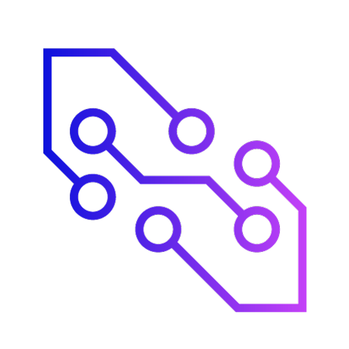 Gradient icon showing nodes in a network