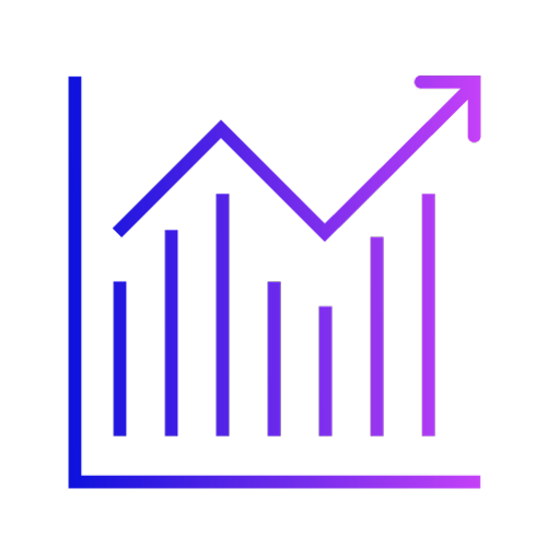 Gradient icon showing a graph