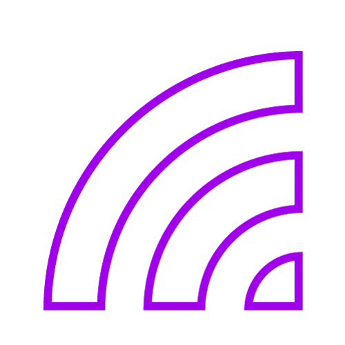 Purple icon showing signal